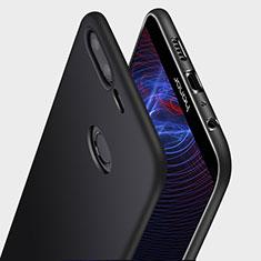 Huawei Honor 9 Lite用極薄ソフトケース シリコンケース 耐衝撃 全面保護 Q03 ファーウェイ ブラック
