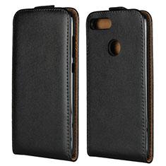 Huawei Honor 9 Lite用フリップ レザーケース スタンド V01 ファーウェイ ブラック