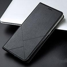 Huawei Honor 9 Lite用手帳型 レザーケース スタンド カバー L01 ファーウェイ ブラック