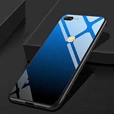 Huawei Honor 9 Lite用ハイブリットバンパーケース プラスチック 鏡面 カバー ファーウェイ ネイビー・ブラック