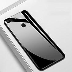 Huawei Honor 9 Lite用ハイブリットバンパーケース プラスチック 鏡面 カバー M01 ファーウェイ ブラック