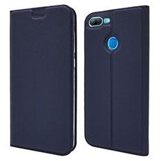 Huawei Honor 9 Lite用手帳型 レザーケース スタンド カバー L04 ファーウェイ ネイビー