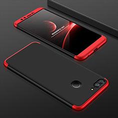 Huawei Honor 9 Lite用ハードケース プラスチック 質感もマット 前面と背面 360度 フルカバー ファーウェイ レッド・ブラック