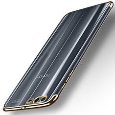Huawei Honor 9 Premium用極薄ソフトケース シリコンケース 耐衝撃 全面保護 クリア透明 T12 ファーウェイ ゴールド