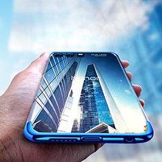 Huawei Honor 9 Premium用極薄ソフトケース シリコンケース 耐衝撃 全面保護 クリア透明 T15 ファーウェイ ネイビー