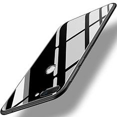 Huawei Honor 9i用ハイブリットバンパーケース プラスチック 鏡面 カバー ファーウェイ ブラック