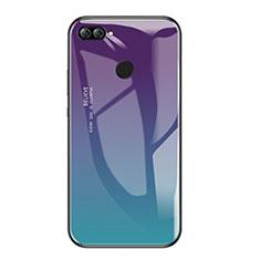 Huawei Honor 9i用ハイブリットバンパーケース プラスチック 鏡面 虹 グラデーション 勾配色 カバー ファーウェイ マルチカラー