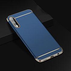 Huawei Honor 9X用ケース 高級感 手触り良い メタル兼プラスチック バンパー M01 ファーウェイ ネイビー