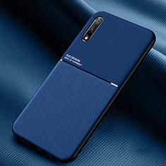 Huawei Honor 9X用360度 フルカバー極薄ソフトケース シリコンケース 耐衝撃 全面保護 バンパー S01 ファーウェイ ネイビー