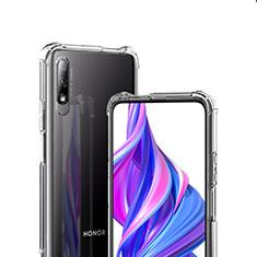 Huawei Honor 9X用極薄ソフトケース シリコンケース 耐衝撃 全面保護 クリア透明 T07 ファーウェイ クリア