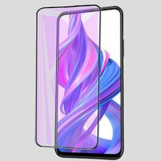 Huawei Honor 9X用強化ガラス フル液晶保護フィルム アンチグレア ブルーライト ファーウェイ ブラック