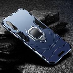 Huawei Honor 9X Pro用ハイブリットバンパーケース プラスチック アンド指輪 マグネット式 ファーウェイ ネイビー