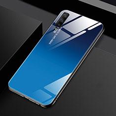 Huawei Honor 9X Pro用ハイブリットバンパーケース プラスチック 鏡面 虹 グラデーション 勾配色 カバー ファーウェイ ネイビー