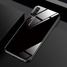Huawei Honor 9X Pro用ハイブリットバンパーケース プラスチック 鏡面 虹 グラデーション 勾配色 カバー ファーウェイ ブラック