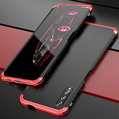 Huawei Honor 9X Pro用ケース 高級感 手触り良い アルミメタル 製の金属製 カバー ファーウェイ レッド・ブラック