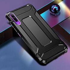 Huawei Honor 9X Pro用ハイブリットバンパーケース プラスチック 兼シリコーン カバー ファーウェイ ブラック