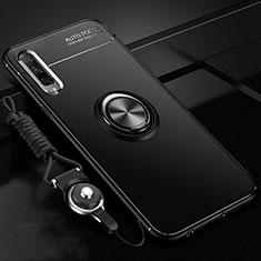 Huawei Honor 9X Pro用極薄ソフトケース シリコンケース 耐衝撃 全面保護 アンド指輪 マグネット式 バンパー A01 ファーウェイ ブラック