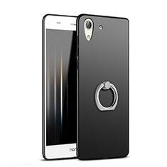 Huawei Honor Holly 3用ハードケース プラスチック 質感もマット アンド指輪 A02 ファーウェイ ブラック
