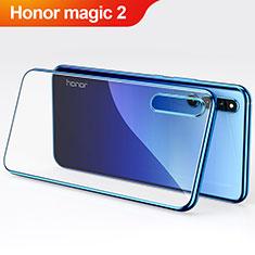 Huawei Honor Magic 2用極薄ソフトケース シリコンケース 耐衝撃 全面保護 クリア透明 カバー ファーウェイ ネイビー