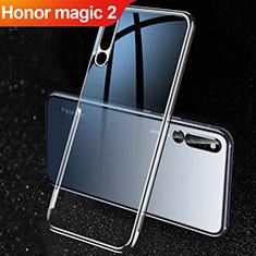 Huawei Honor Magic 2用極薄ソフトケース シリコンケース 耐衝撃 全面保護 クリア透明 カバー ファーウェイ ブラック