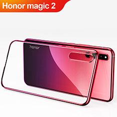 Huawei Honor Magic 2用ハードケース プラスチック 質感もマット 前面と背面 360度 フルカバー Q01 ファーウェイ レッド