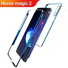 Huawei Honor Magic 2用ハードケース プラスチック 質感もマット 前面と背面 360度 フルカバー Q01 ファーウェイ ネイビー