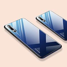 Huawei Honor Magic 2用ハイブリットバンパーケース プラスチック 鏡面 カバー ファーウェイ ネイビー