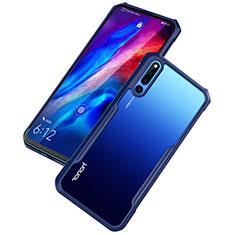 Huawei Honor Magic 2用ハイブリットバンパーケース クリア透明 プラスチック 鏡面 カバー ファーウェイ ネイビー