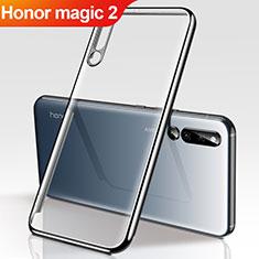 Huawei Honor Magic 2用極薄ソフトケース シリコンケース 耐衝撃 全面保護 クリア透明 H01 ファーウェイ ブラック