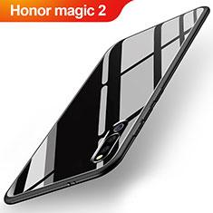 Huawei Honor Magic 2用ハイブリットバンパーケース プラスチック 鏡面 カバー M02 ファーウェイ ブラック