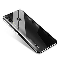 Huawei Honor Note 10用極薄ソフトケース シリコンケース 耐衝撃 全面保護 クリア透明 H02 ファーウェイ ブラック