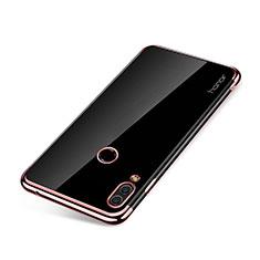 Huawei Honor Note 10用極薄ソフトケース シリコンケース 耐衝撃 全面保護 クリア透明 H01 ファーウェイ ローズゴールド