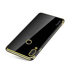 Huawei Honor Note 10用極薄ソフトケース シリコンケース 耐衝撃 全面保護 クリア透明 H01 ファーウェイ ゴールド