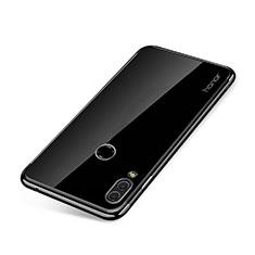 Huawei Honor Note 10用極薄ソフトケース シリコンケース 耐衝撃 全面保護 クリア透明 H01 ファーウェイ ブラック