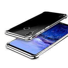 Huawei Honor Note 10用極薄ソフトケース シリコンケース 耐衝撃 全面保護 クリア透明 H03 ファーウェイ シルバー