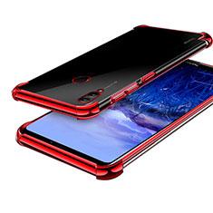 Huawei Honor Note 10用極薄ソフトケース シリコンケース 耐衝撃 全面保護 クリア透明 H03 ファーウェイ レッド