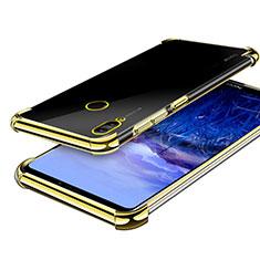 Huawei Honor Note 10用極薄ソフトケース シリコンケース 耐衝撃 全面保護 クリア透明 H03 ファーウェイ ゴールド