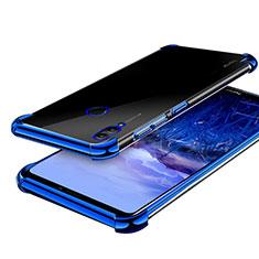 Huawei Honor Note 10用極薄ソフトケース シリコンケース 耐衝撃 全面保護 クリア透明 H03 ファーウェイ ネイビー