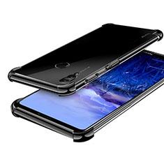 Huawei Honor Note 10用極薄ソフトケース シリコンケース 耐衝撃 全面保護 クリア透明 H03 ファーウェイ ブラック