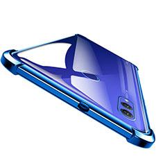 Huawei Honor Note 10用極薄ソフトケース シリコンケース 耐衝撃 全面保護 クリア透明 T04 ファーウェイ ネイビー