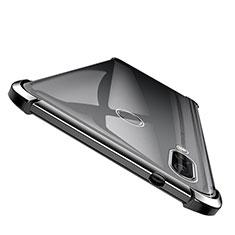 Huawei Honor Note 10用極薄ソフトケース シリコンケース 耐衝撃 全面保護 クリア透明 T04 ファーウェイ ブラック