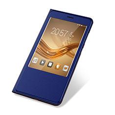 Huawei Honor Note 8用手帳型 レザーケース スタンド カバー L03 ファーウェイ ネイビー