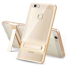 Huawei Honor Note 8用ハイブリットバンパーケース スタンド プラスチック 兼シリコーン カバー ファーウェイ ゴールド