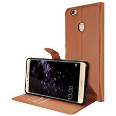 Huawei Honor Note 8用手帳型 レザーケース スタンド ファーウェイ ブラウン