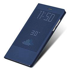 Huawei Honor Note 8用手帳型 レザーケース スタンド L01 ファーウェイ ネイビー