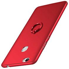 Huawei Honor Note 8用ハードケース プラスチック 質感もマット アンド指輪 ファーウェイ レッド