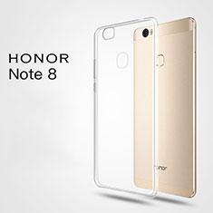 Huawei Honor Note 8用極薄ソフトケース シリコンケース 耐衝撃 全面保護 クリア透明 T03 ファーウェイ クリア