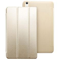 Huawei Honor Pad 2用手帳型 レザーケース スタンド ファーウェイ ゴールド