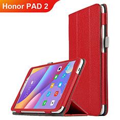 Huawei Honor Pad 2用手帳型 レザーケース スタンド L01 ファーウェイ レッド