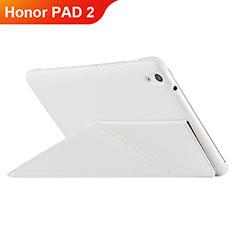 Huawei Honor Pad 2用手帳型 レザーケース スタンド L02 ファーウェイ ホワイト